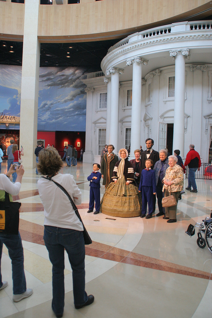 Get your picture taken with President Lincoln and his family. Photo by Sid Webb on flickr