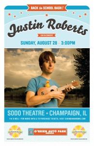 Justin Roberts Chambanamoms.com Champaign Urbana concert kids SODO theater