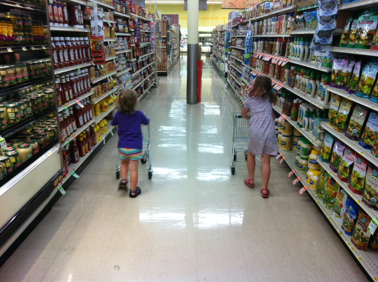 grocery store Champaign County Market shopping cart kids