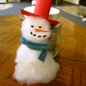 Softy the Snowman Chambanamoms I.D.E.A. Store Eco-craft