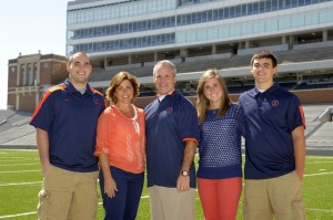 Coach Tim Beckman Illini football family wife mom champaign urbana camp rantoul