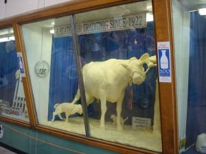 illinois state fair butter cow springfield