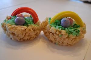 Rice Krispie Easter Basket