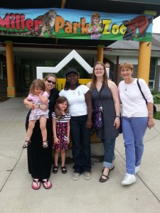 On the west side of Bloomington, nestled in what appeared to be a residential area, we found Miller Park Zoo.