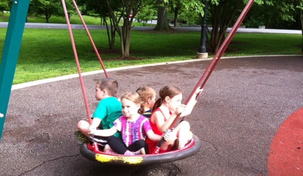 Deming Park Terre Haute playground saucer swing