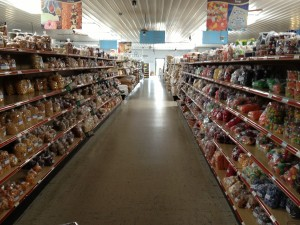 Beachy's sells a combination of organic and non-organic food items, both at a deeply discounted rate.
