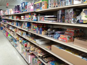 In addition to buik food, Beachy's has a huge selection of homeschooling materials and an entire aisle of Melissa and Doug toys. Photo by Amy Cunningham.