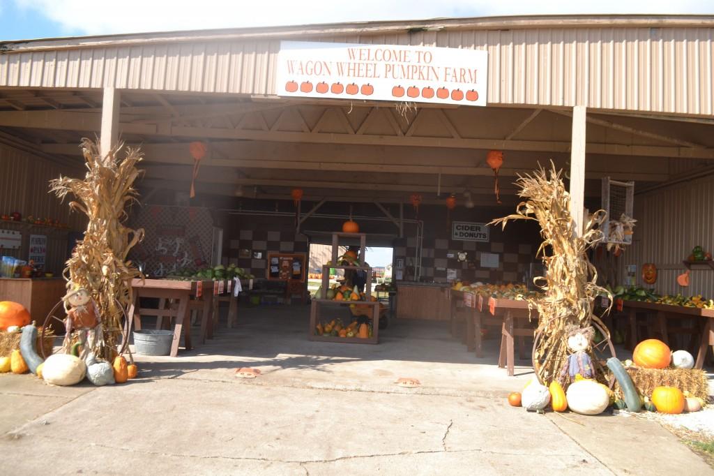 Entrance to Wagon Wheel Pumpkin Farm