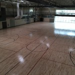 full size basketball courts at Leonhard Recreation Center