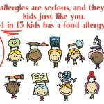 1 in 13 children has a food allergy