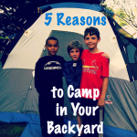 Top 5 Reasons To Camp in Your Backyard