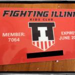 Fighting Illini Kids Club membership card
