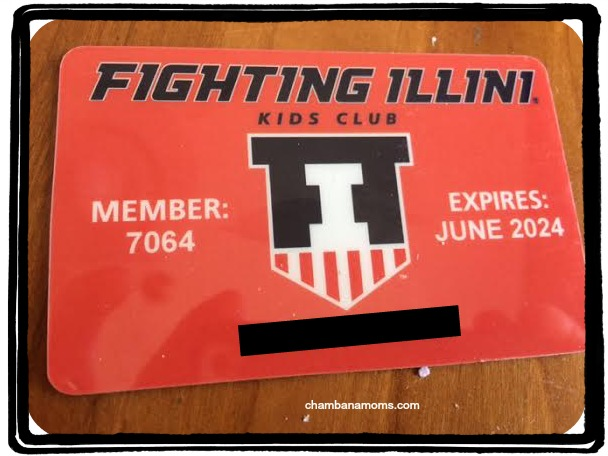 membership cards Fighting Illini Kids Club