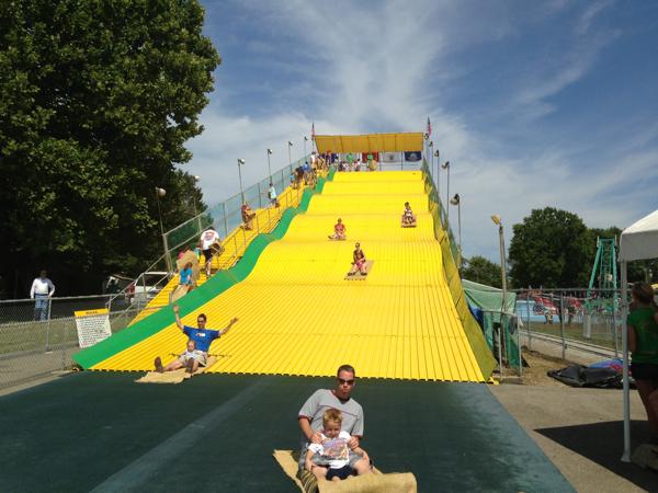 Illinois State Fair yellow slide