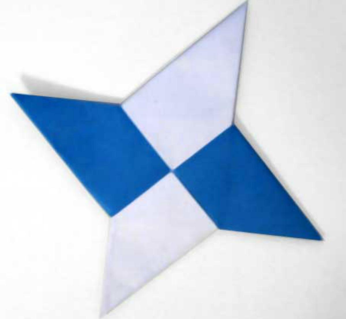 Как сделать сюрикен из бумаги схема легкая
