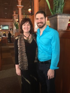 Rob Meister, owner of Minneci's at the Crossing, with his mom (who loves eating locally & supporting his son)