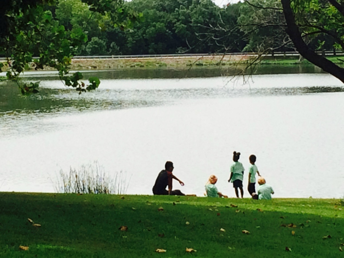 Kids can play while taking in nature views at Homer Lake Natural Playscape in Homer, Illinois. Photo provided.