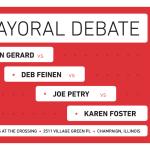 champaign mayoral debate poster