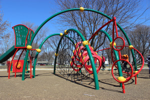 A brand new playground structure was also installed at Douglass Park. Photo credit: Champaign Park District