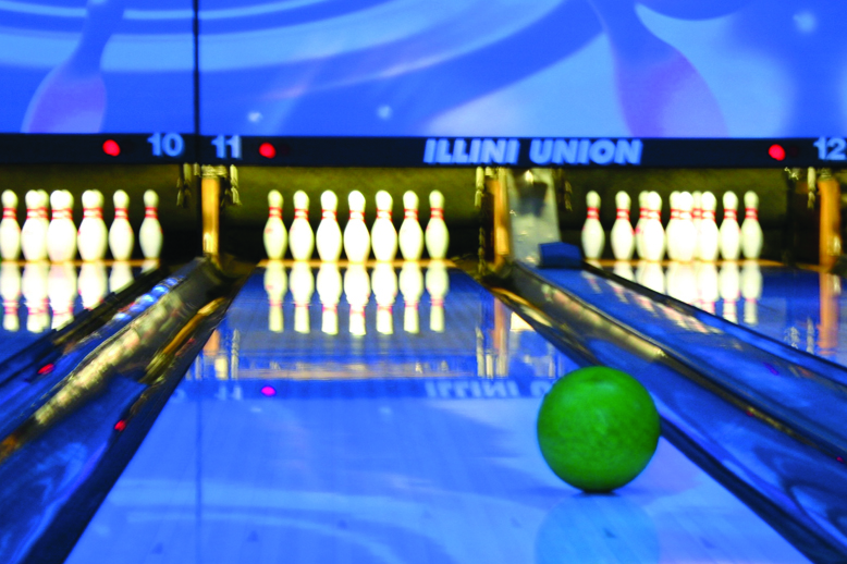 Cosmic bowling is one of the attractions of the Illini Union Rec Room. Photo provided.