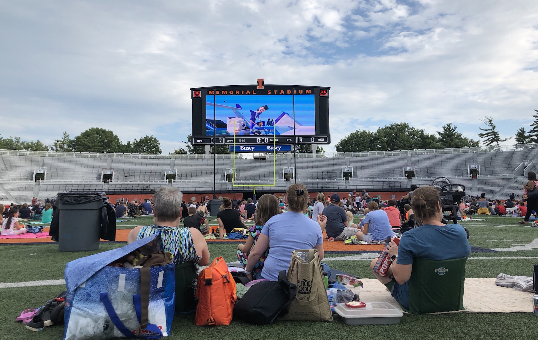Memorial Stadium Movie Night Champaign