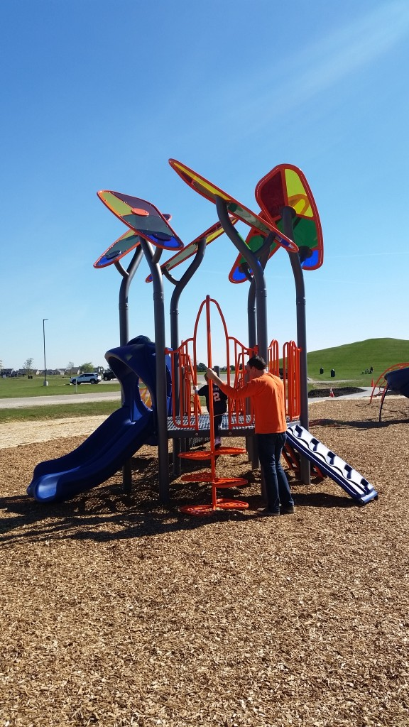 Colbert Park in Savoy offers fun for kids of all ages! Photo Credit: Emily Harrington.