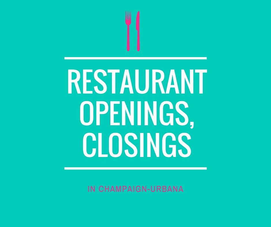 Restaurant Openings, Closings