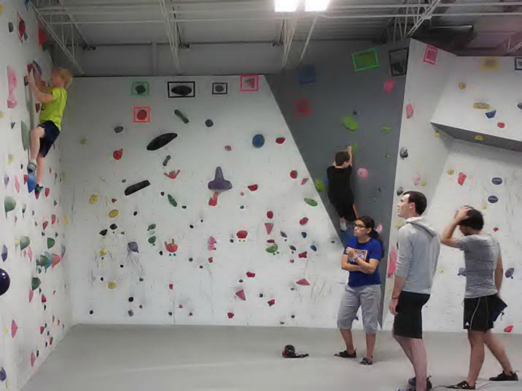Indoor Climbing in Urbana. Photo Credit: Bethany Parker.