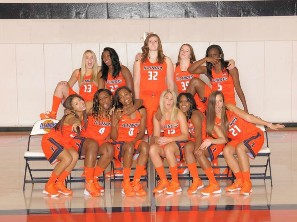 University of Illinois Women's Basetball Team Champaign- Urbana