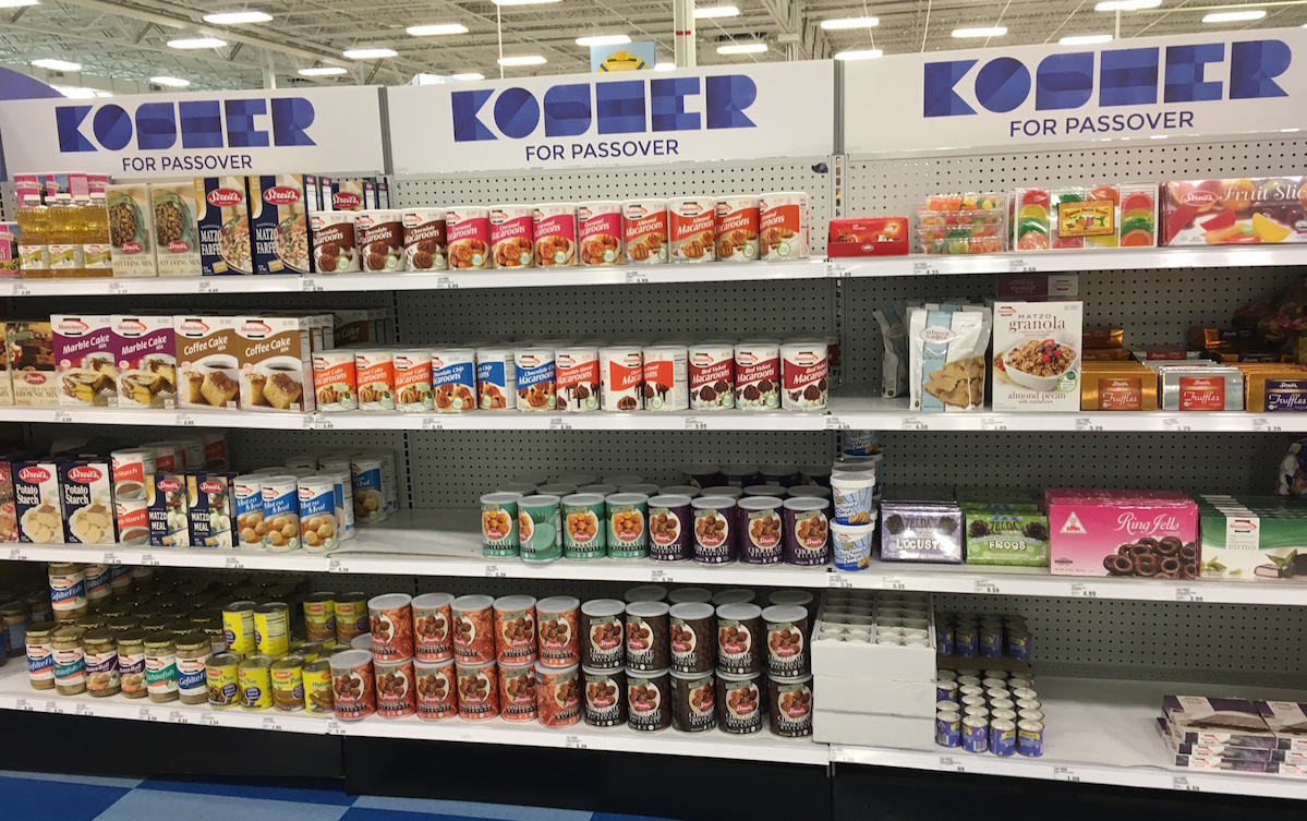 Passover food at Meijer in Champaign. Chambanamoms.com photo