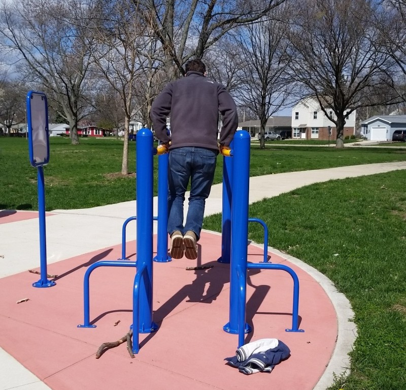 Exercise Equipment in Douglass Park in Champaign.