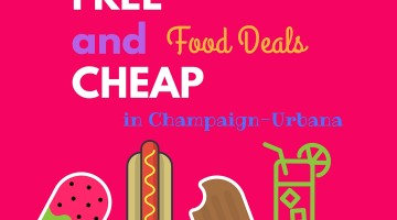 Free and Cheap Food in July in Champaign-Urbana