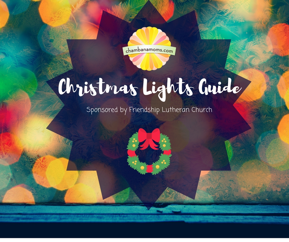 champaign urbana area christmas lights guide - Flower Christmas Lights