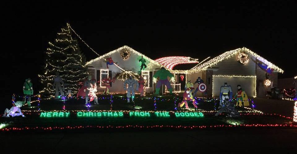 The Dodge house in Mahomet, Christmas 2016. Facebook photo