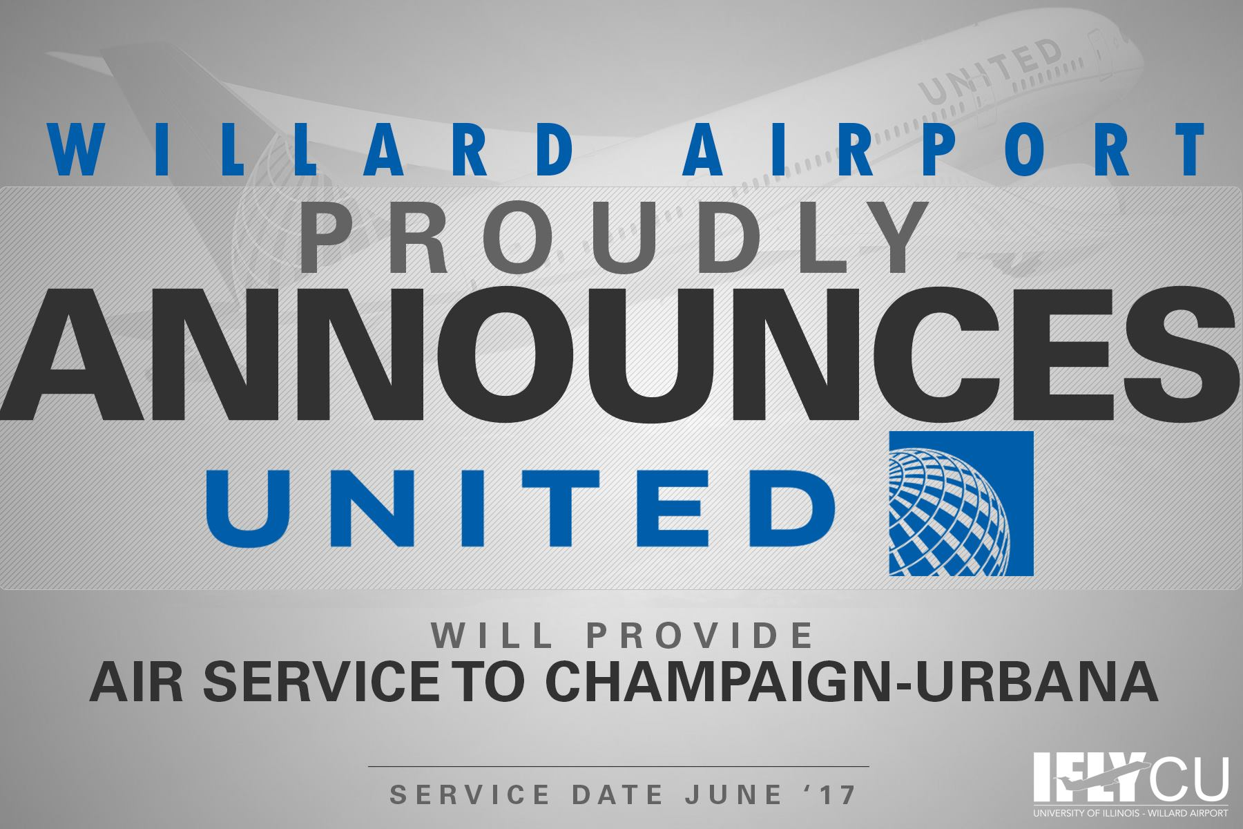 willard airport announces new service from United Airlines
