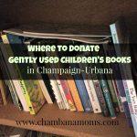Where to Donate Children's Books in Champaign-Urbana