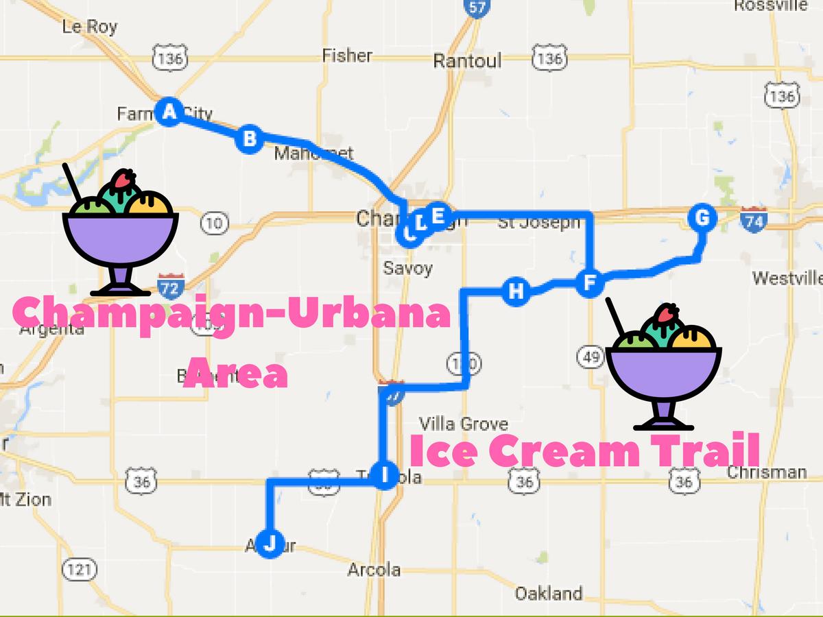 Champaign-Urbana Area Ice Cream Trail