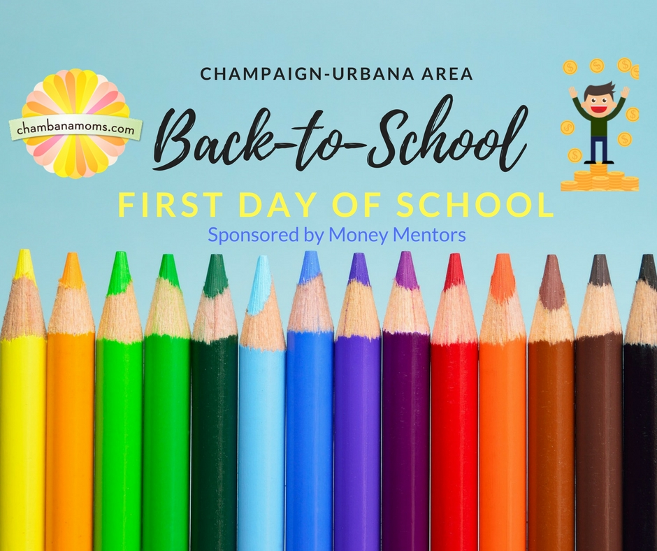 Champaign Urbana Back to School First Day of School