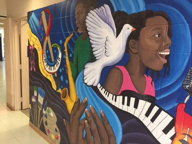 A mural at Stratton Elementary