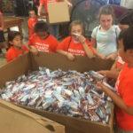 Family Volunteering: Operation Orange Food Repack