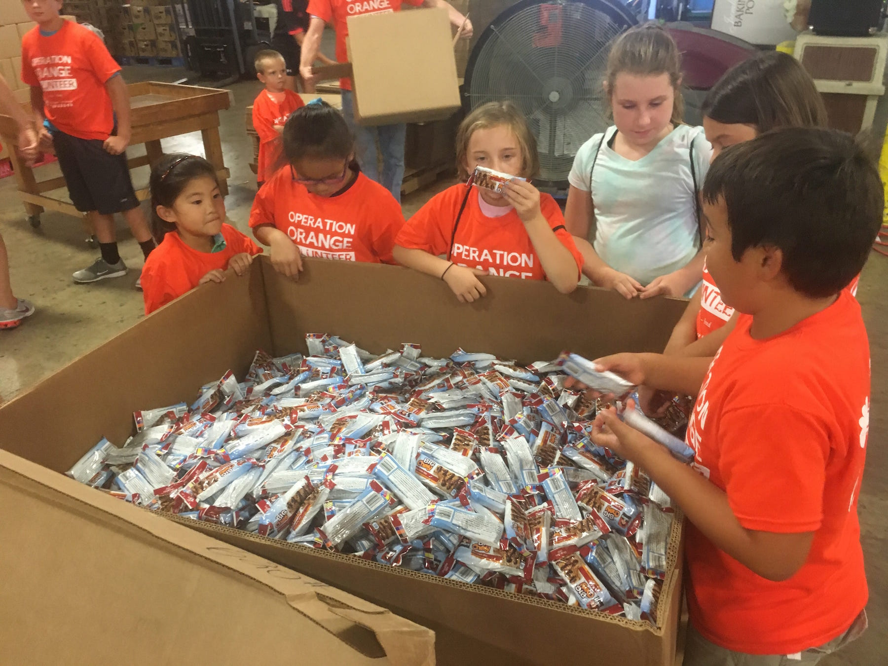 Family Volunteering Operation Orange