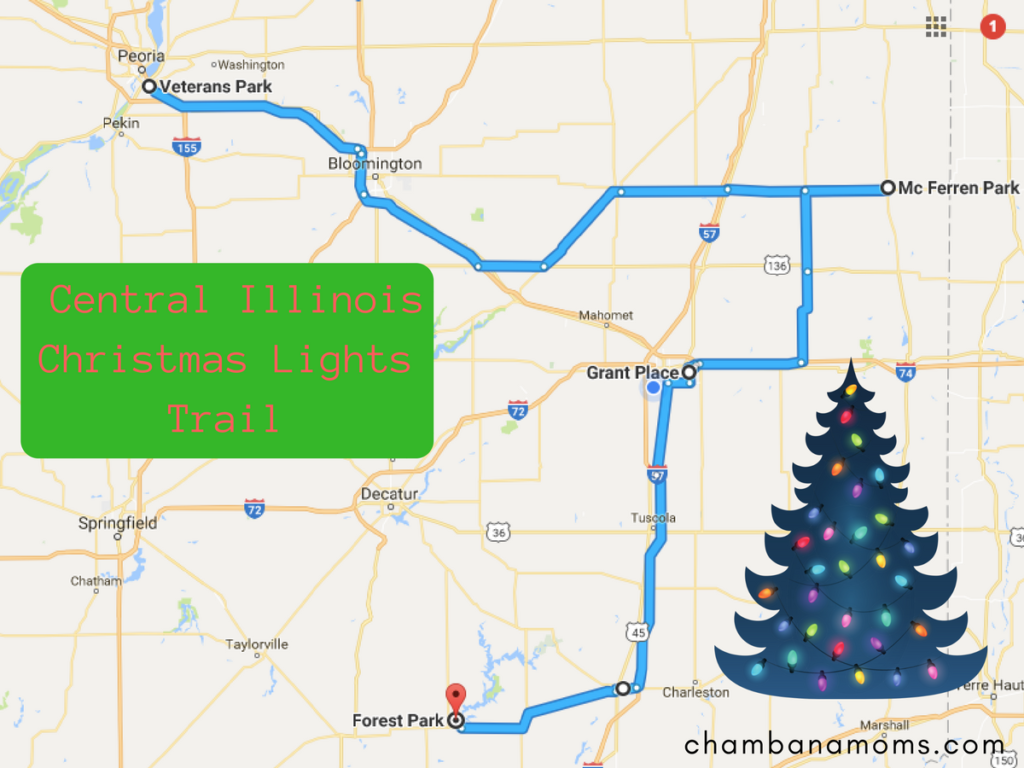 central illinois christmas lights trail