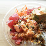 The poke bowl steals the show at the new Broadway Food Hall in Urbana. Photo by Jennifer Wilson