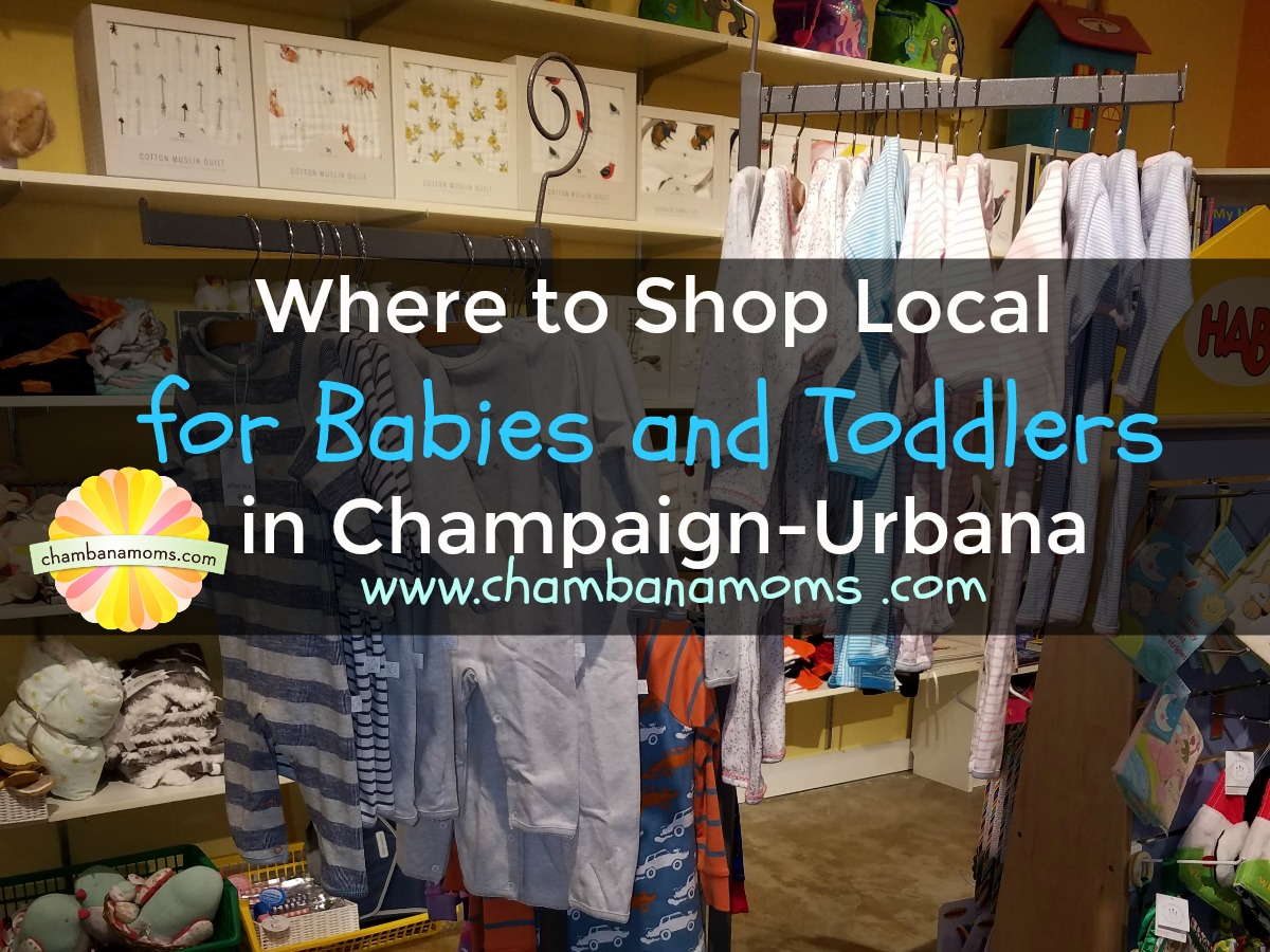 shop local for baby clothes and gifts in Champaign-Urbana on Chambanamoms.com