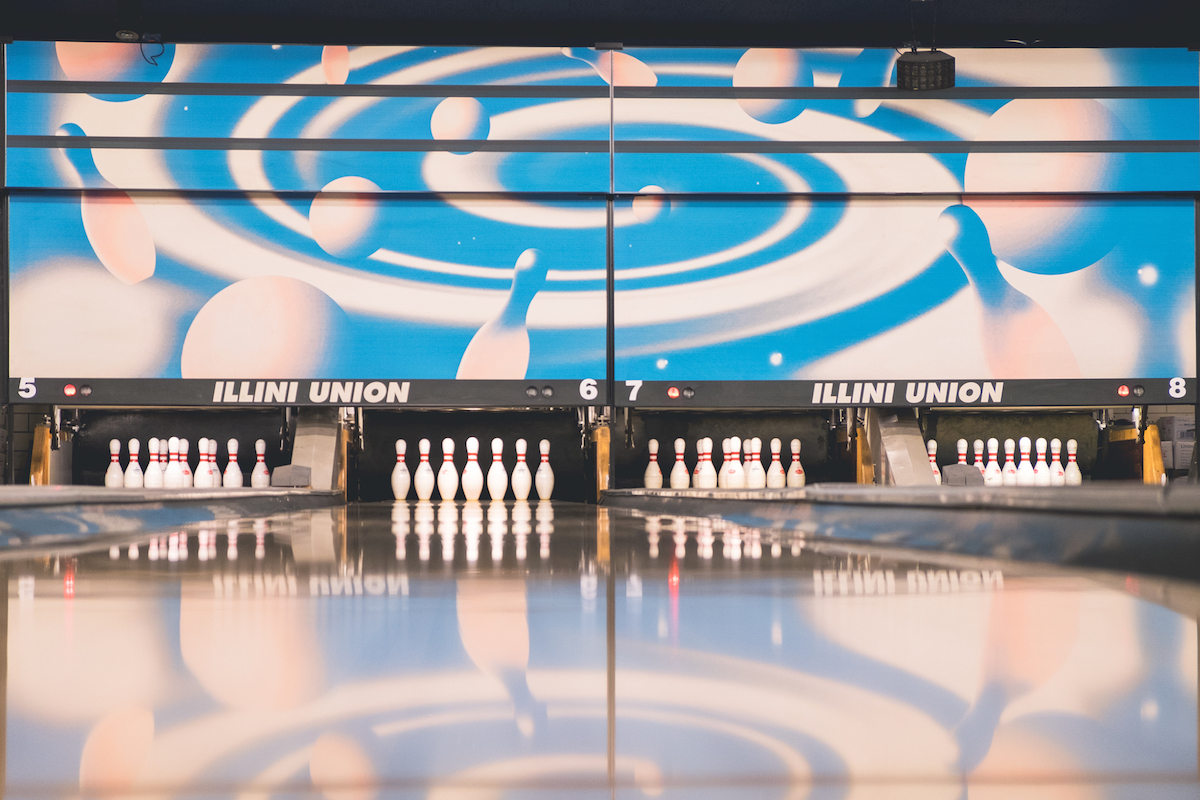 bowling at the Illini Union Rec Room