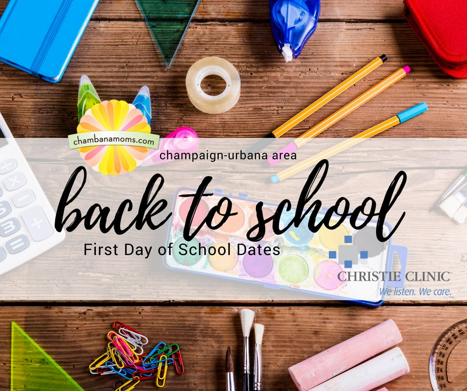 Champaign-Urbana First Day of School Dates