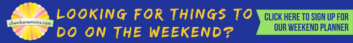 click here to sign up for our weekend planner email newsletter