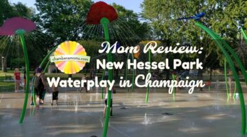 Mom Review: New Hessel Park Waterplay Splash Pad in Champaign