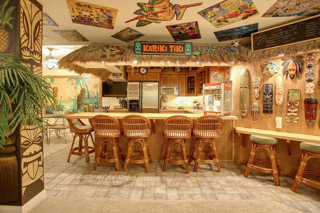 We Can T Take Our Eyes Off This Champaign House S Tiki Bar