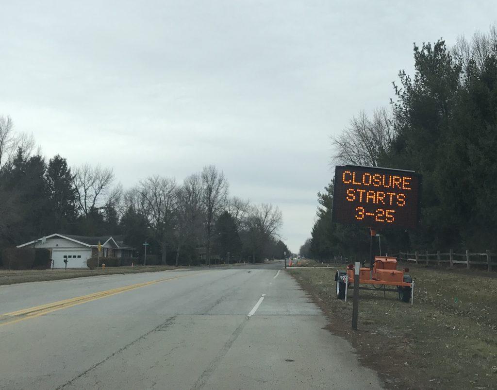 South Prospect Champaign Roads Closed